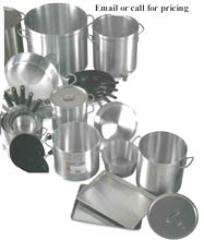 Heavy Duty Aluminum & Stainless Steel Pots