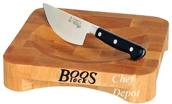 Rocking Knife with Mezzaluna Herb Bowl