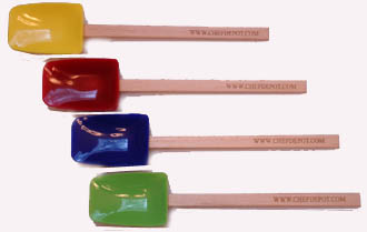High Heat Colored Spoonula Spatulas