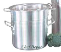 Heavy Duty Commercial Aluminum Double Boiler Pot with lid