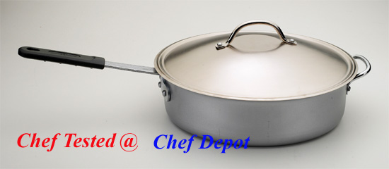 Heavy Duty Aluminum Fry Pan with cover