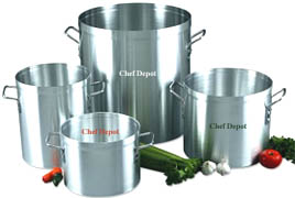 Heavy Duty Commercial Aluminum Stock Pot with lid