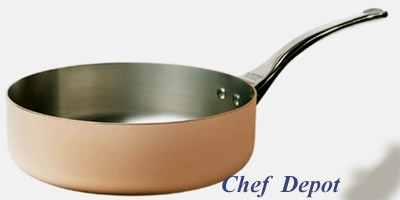 Heavy Duty Copper and Stainless Steel Saute Pan