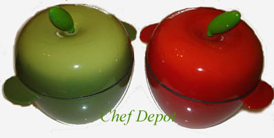 Red Green Cast Iron Apple Baker Set