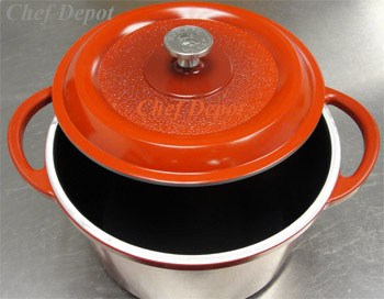 USA red gray black cast dutch ovens