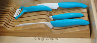 Ceramic Kyocera Knife Set in drawer