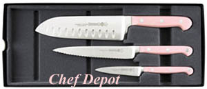 Mundial Pink Knife Set