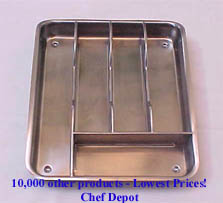 Stainless Steel Flatware Tray