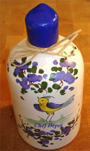 Handpainted Italian Ceramic Bottle with Reserve Extra Virgin Olive Oil 600 ml.