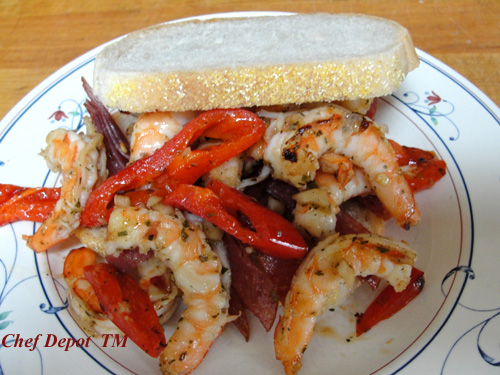 shrimp pepper sandwich