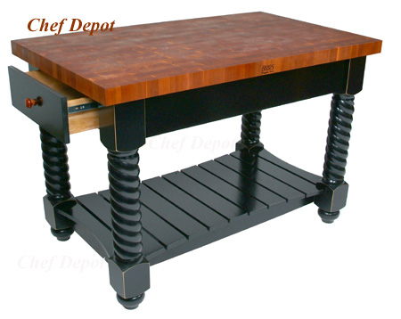 John Boos Cherry Tuscan Kitchen Island