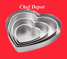 Heart Wedding Cake Pan Set