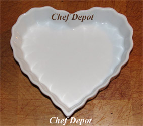 Heart Dessert Dishes and heart shaped Dish