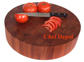 Chef Depot Exclusive Round Lyptus Block