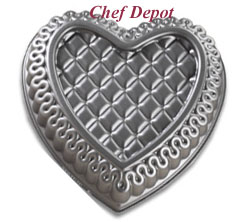 Quilted Heart Pan - made in the USA