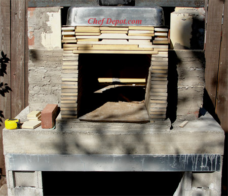 DIY Brick wood fired oven is eco friendly