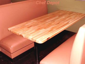 Classic Maple Table Top in Restaurant