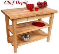 Reviews are in - John Boos Country Table with 2 shelves - 5 star ratings from all