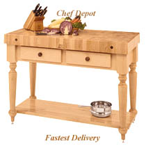 Cucina Rustica Table with shelf