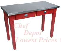 Cucina Milano Table in Barn Red