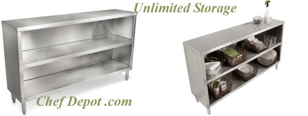 stainless steel prep table with cabinet 2