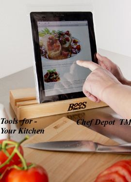 Tablet Recipe Box Holder / Cutting Board