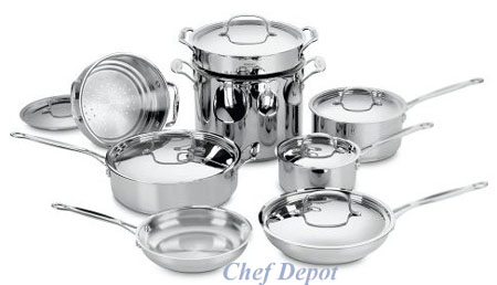 14 Piece Chefs Classic Stainless Steel Cookware Set