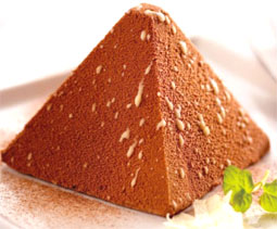 molded chocolate mousse