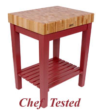 Barn Red Gourmet Block Cart