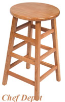 John Boos Oak Bar Stool