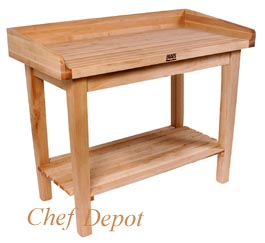 White House Table, used by the Chefs in the White House kitchen, pictured without baskets
