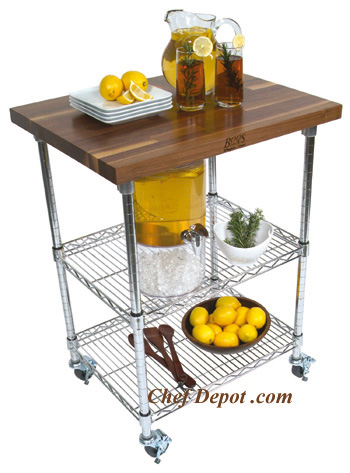 Walnut Pantry Cart