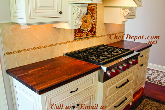 Edge Grain Blended Walnut Kitchen Counter Top