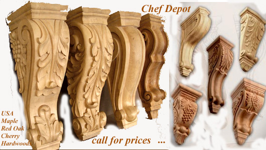 USA Hardwood Corbel Supports