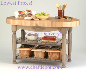 American Heritage Harvest Table - pictured in useful gray
