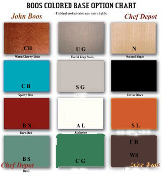 Color Choices Oak Table - Please Email Us Your Color Choice after checkout