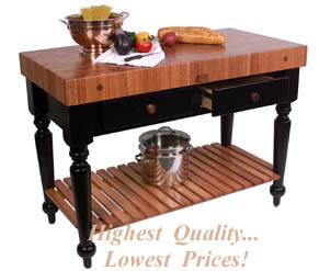 Le Rustica Table in Cherry with lower shelf