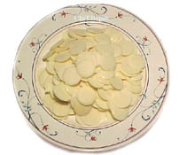 White Chocolate Pistelles