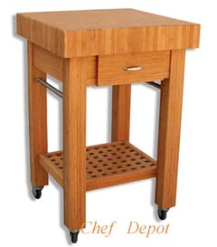 Chef Depot Bamboo Chopping Table