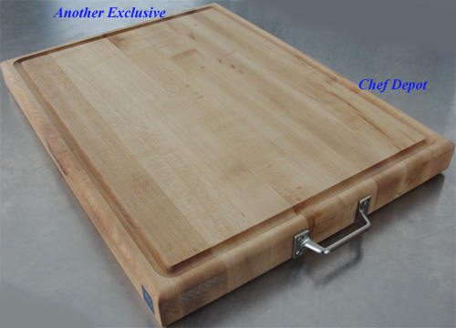 Chef Depot Maple Cutting Board with handles