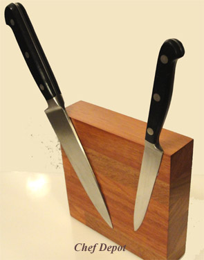 Small Compact Modern Knife Block