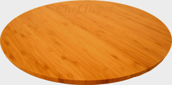Bamboo Lazy Susan Serving Tray