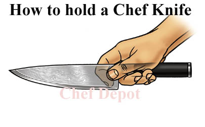 Correct way to hold a knife