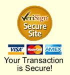 VeriSign Secured SSL Encrypted Safe Shopping