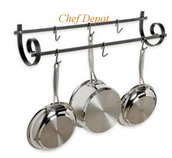 Scrolling Design Pot Rack