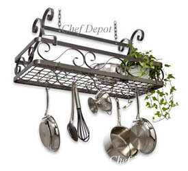 Basket Style Pot Rack