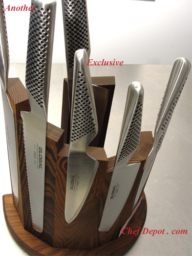 Modern Knife Block with KAI knives