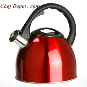 Stainless Red Tea Pot / Kettle