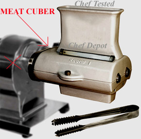 Cast Iron Meat Cuber and Fast Easy Meat Tenderizer