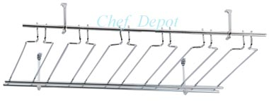 Actual Product - Chrome Stemware Rack